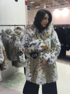 Lynx fur coat with hood N1 (LF02) by charm.gr